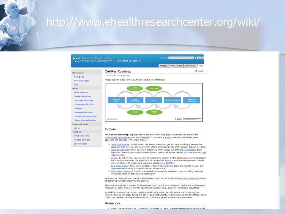 http://www.ehealthresearchcenter.org/wiki/