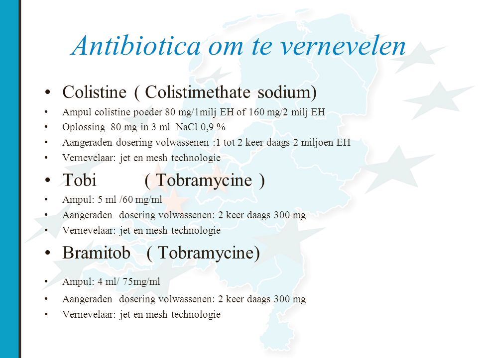 Antibiotica om te vernevelen