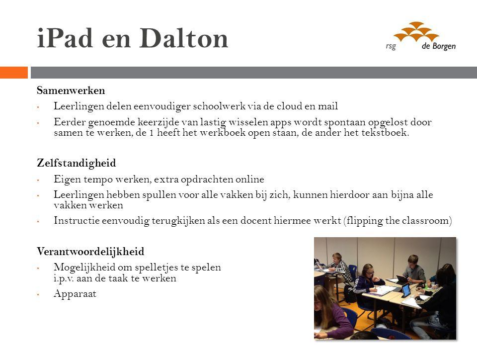 iPad en Dalton Samenwerken