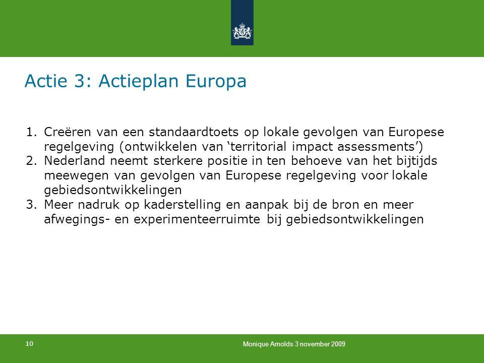 Actie 3: Actieplan Europa