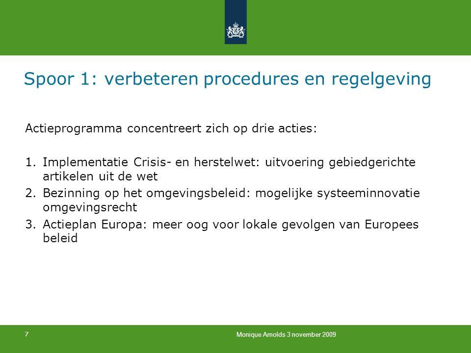 Spoor 1: verbeteren procedures en regelgeving