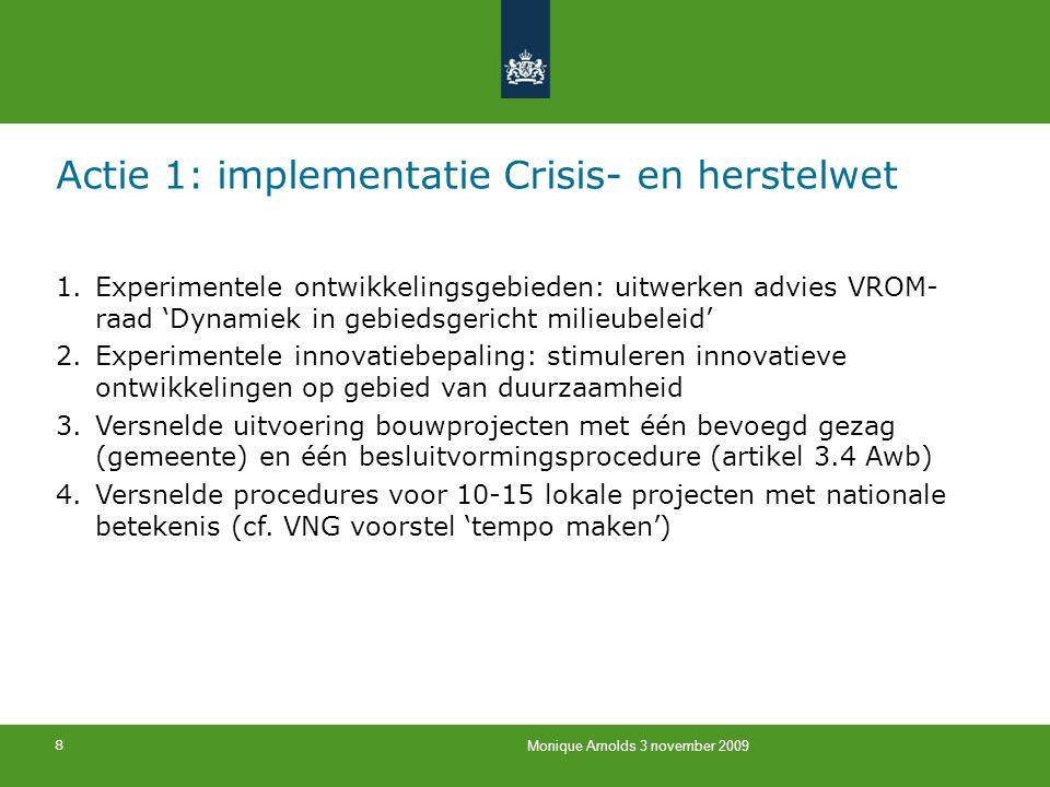 Actie 1: implementatie Crisis- en herstelwet