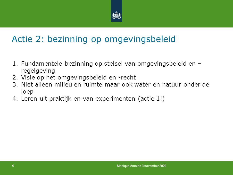 Actie 2: bezinning op omgevingsbeleid