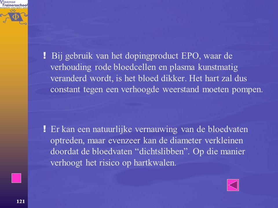 ! Bij gebruik van het dopingproduct EPO, waar de verhouding rode bloedcellen en plasma kunstmatig veranderd wordt, is het bloed dikker. Het hart zal dus constant tegen een verhoogde weerstand moeten pompen.