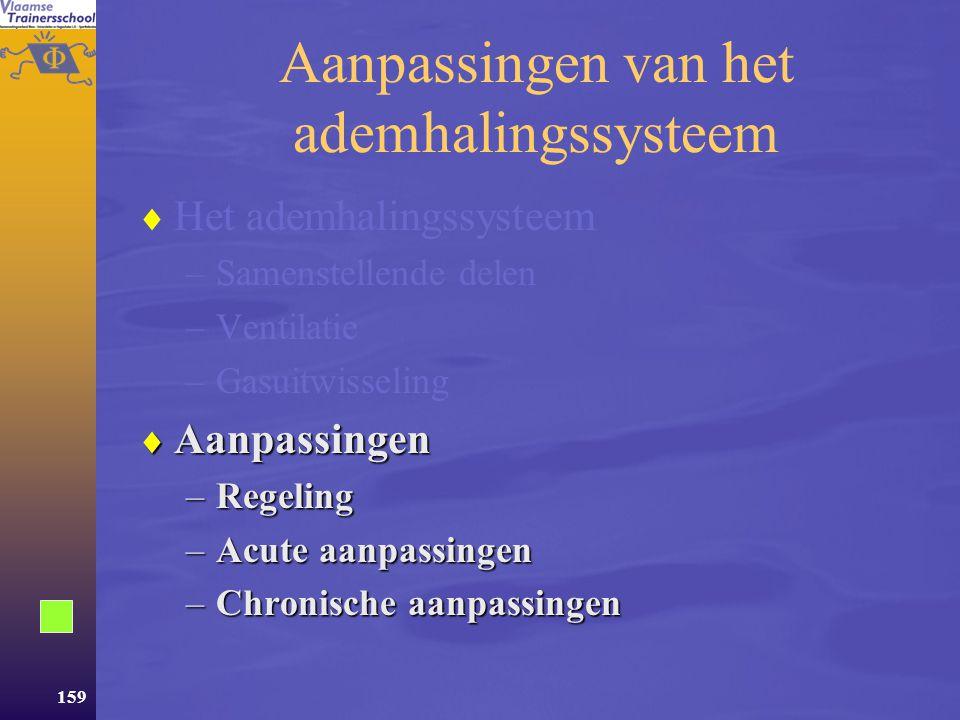 Aanpassingen van het ademhalingssysteem