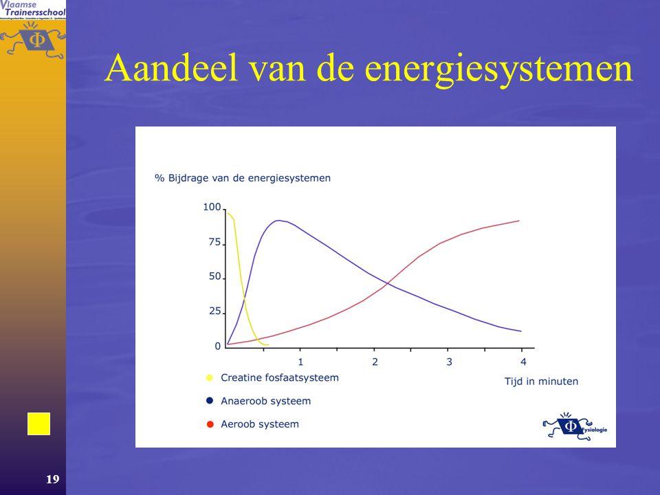 Aandeel van de energiesystemen