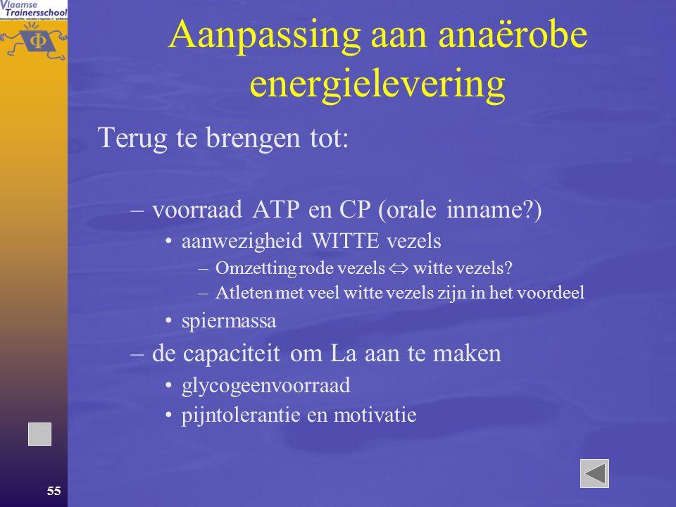 Aanpassing aan anaërobe energielevering
