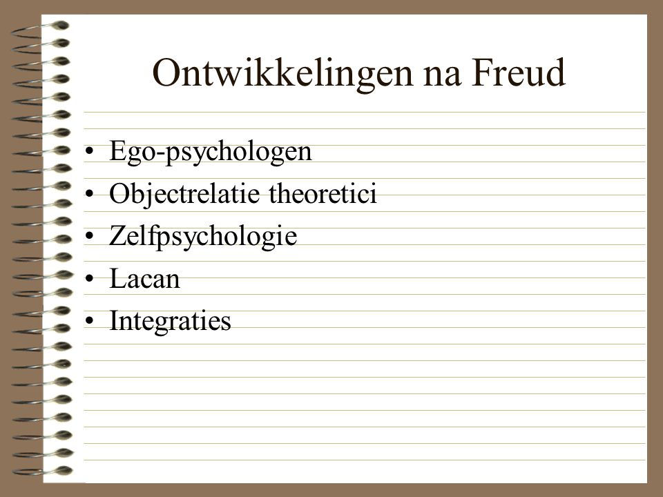 Ontwikkelingen na Freud