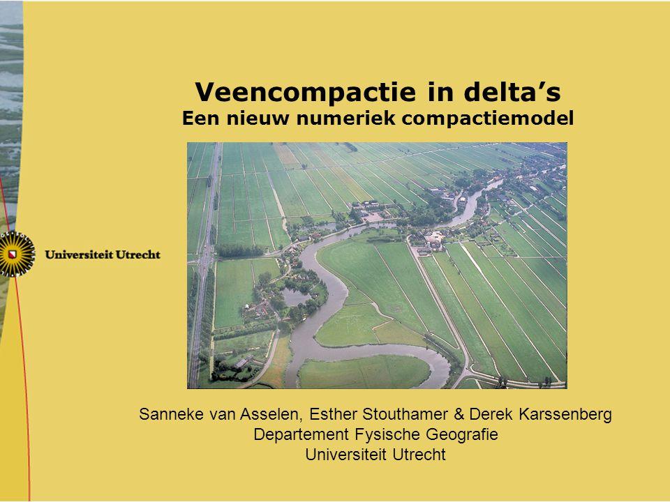 Veencompactie in delta's Een nieuw numeriek compactiemodel