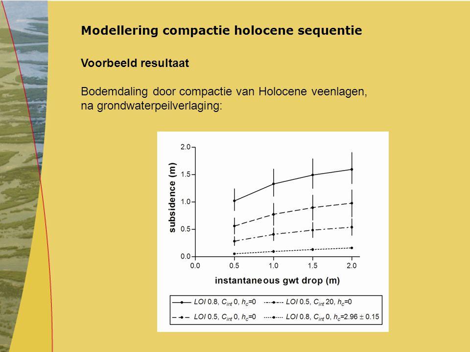Modellering compactie holocene sequentie