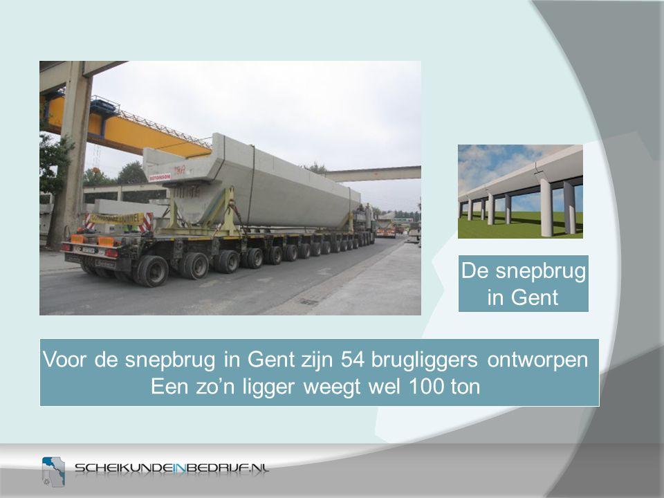 Voor de snepbrug in Gent zijn 54 brugliggers ontworpen
