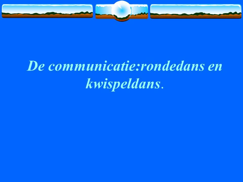 De communicatie:rondedans en kwispeldans.