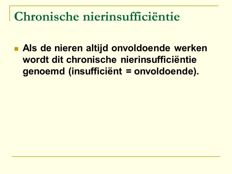 Chronische nierinsufficiëntie