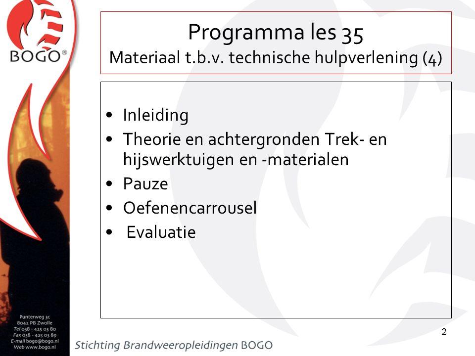Programma les 35 Materiaal t.b.v. technische hulpverlening (4)