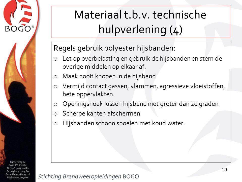 Materiaal t.b.v. technische hulpverlening (4)