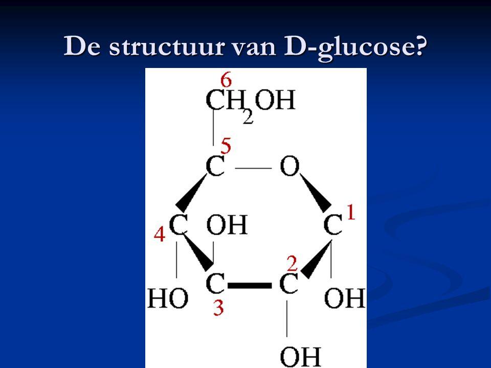 De structuur van D-glucose
