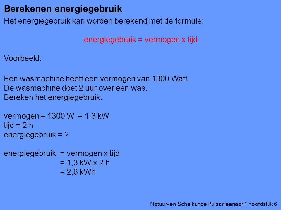 energiegebruik = vermogen x tijd