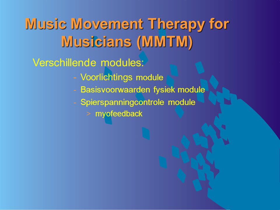 Music Movement Therapy for Musicians (MMTM)