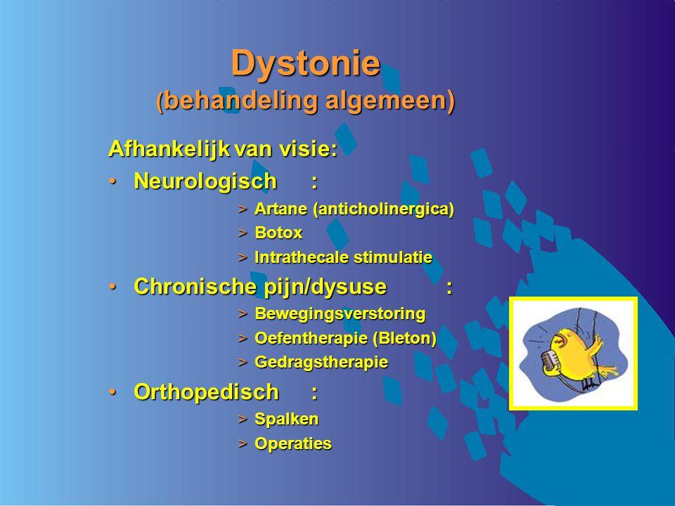 Dystonie (behandeling algemeen)