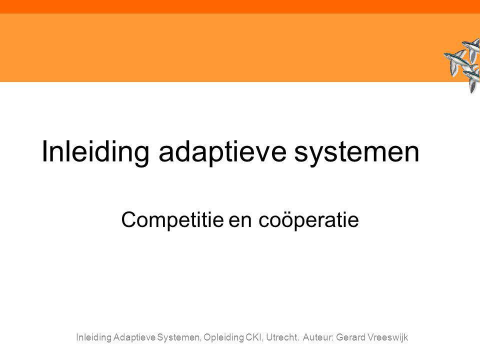 Inleiding adaptieve systemen