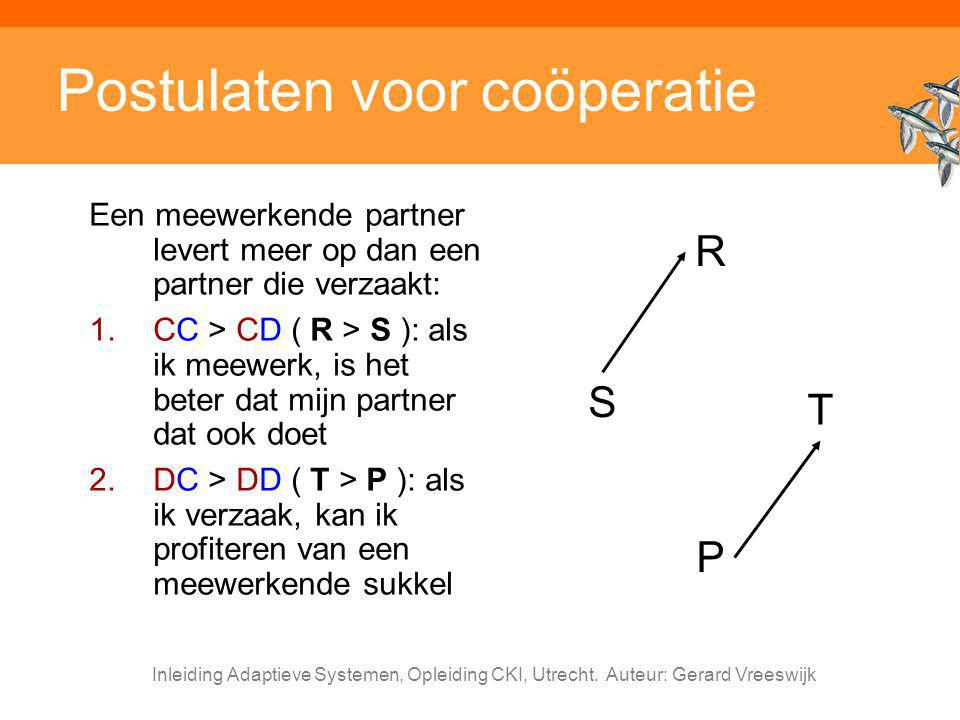 Postulaten voor coöperatie