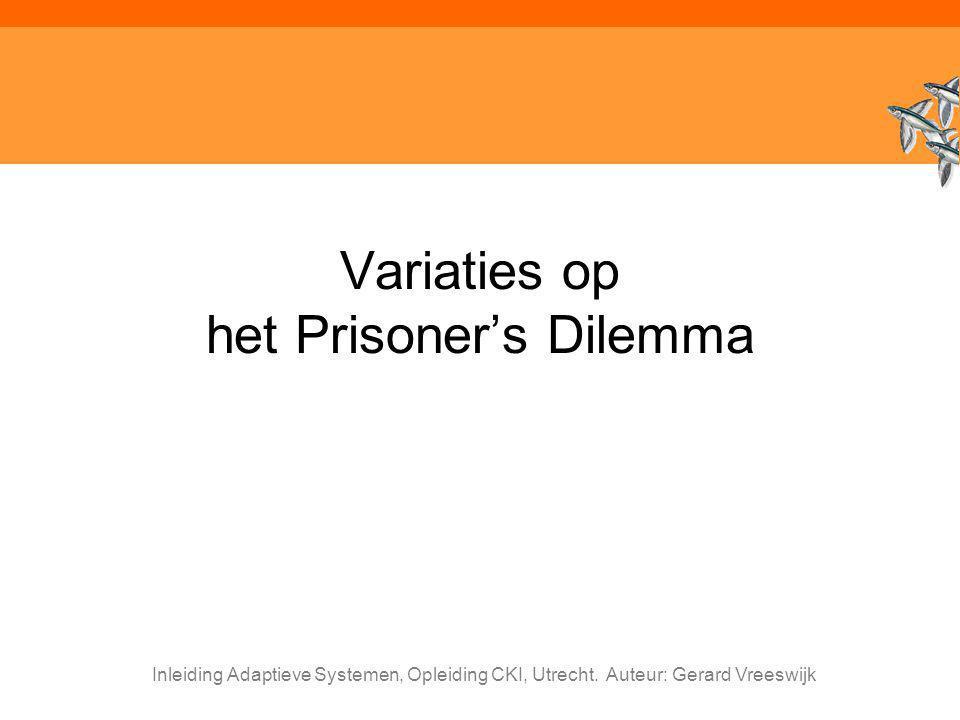 Variaties op het Prisoner's Dilemma