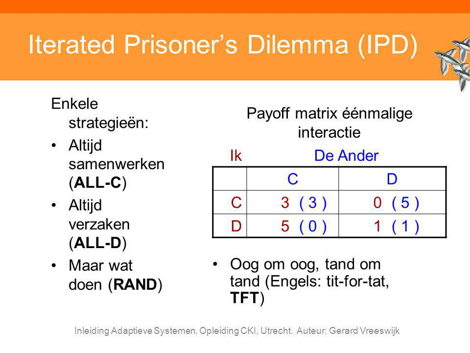 Iterated Prisoner's Dilemma (IPD)