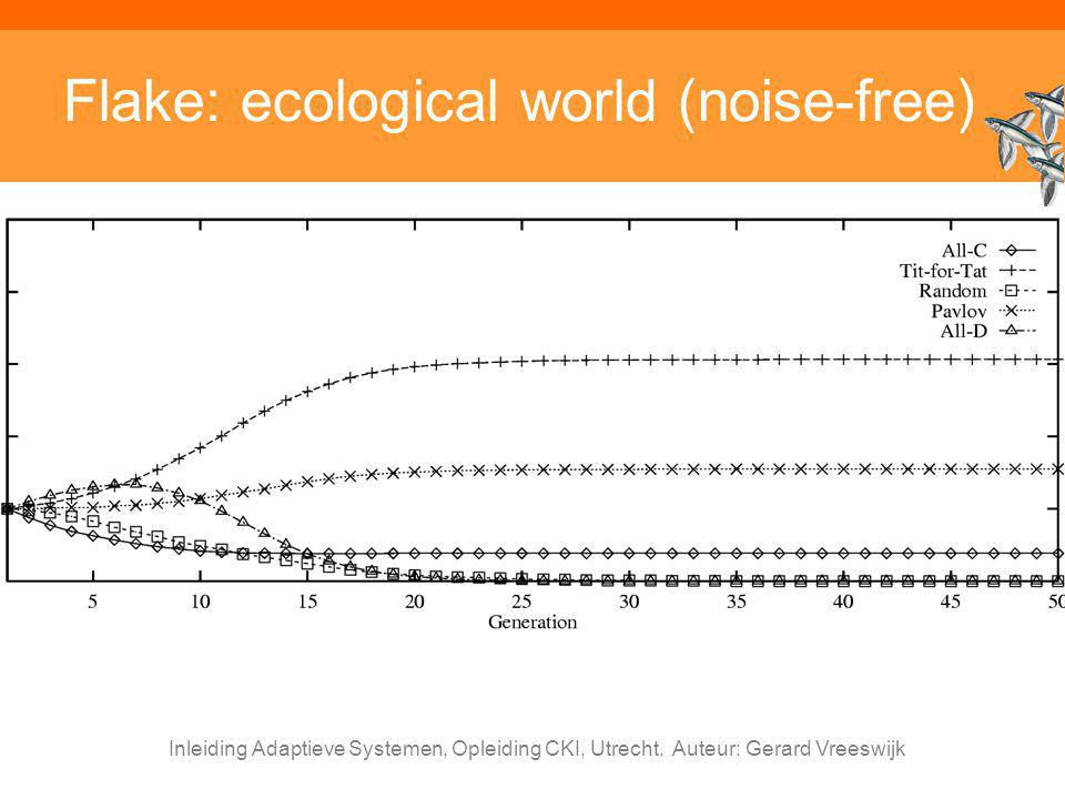 Flake: ecological world (noise-free)