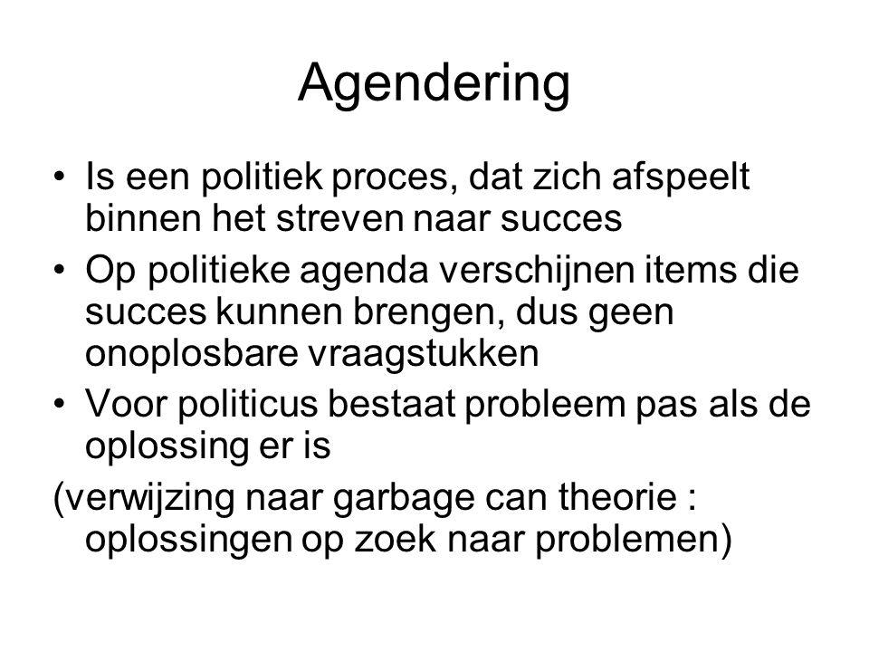 Agendering Is een politiek proces, dat zich afspeelt binnen het streven naar succes.