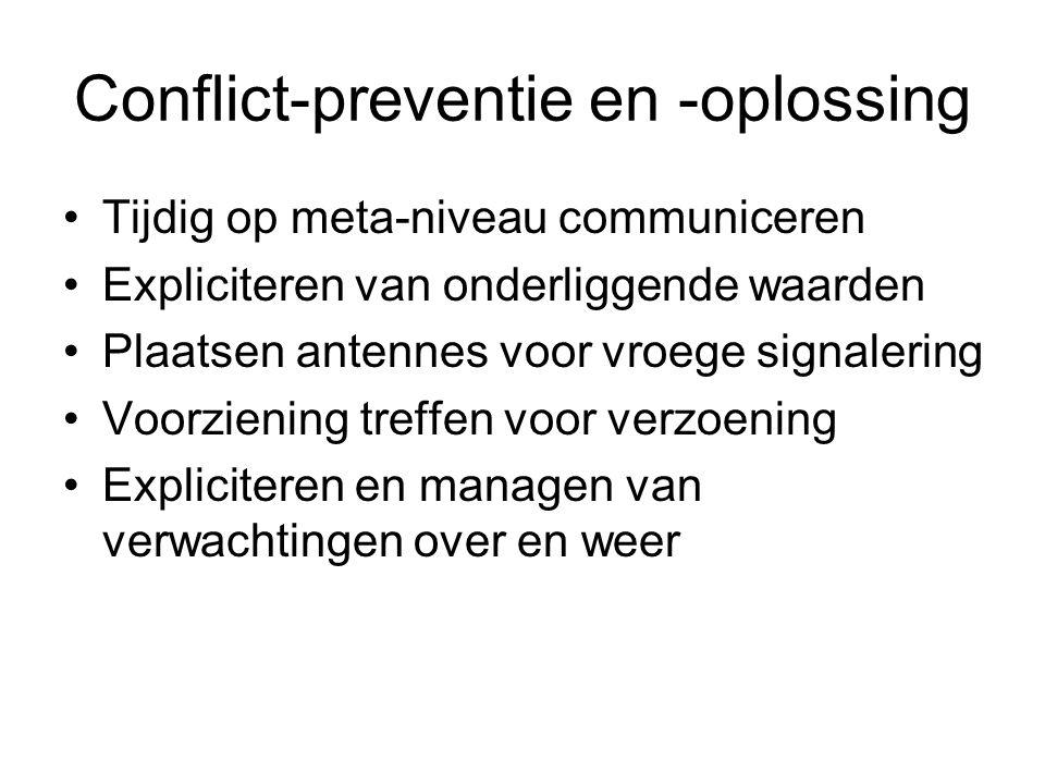 Conflict-preventie en -oplossing