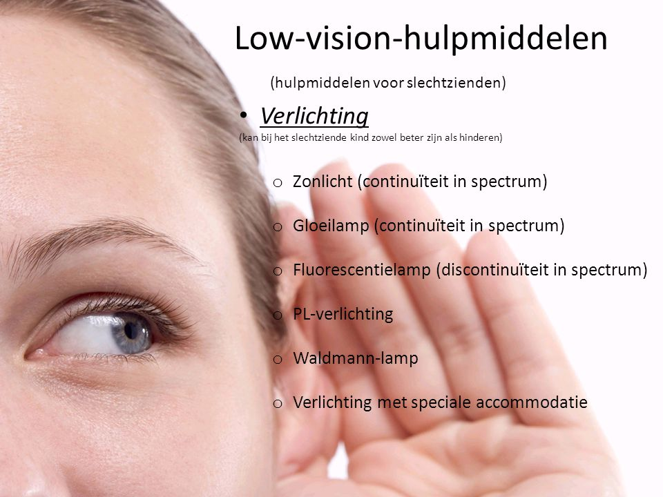 Low-vision-hulpmiddelen