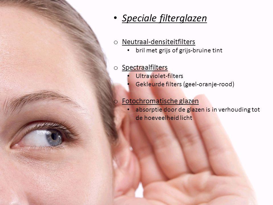 Speciale filterglazen