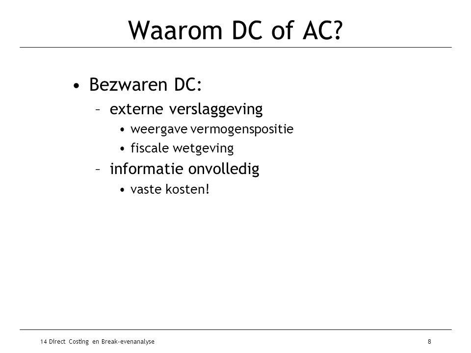 Waarom DC of AC Bezwaren DC: externe verslaggeving