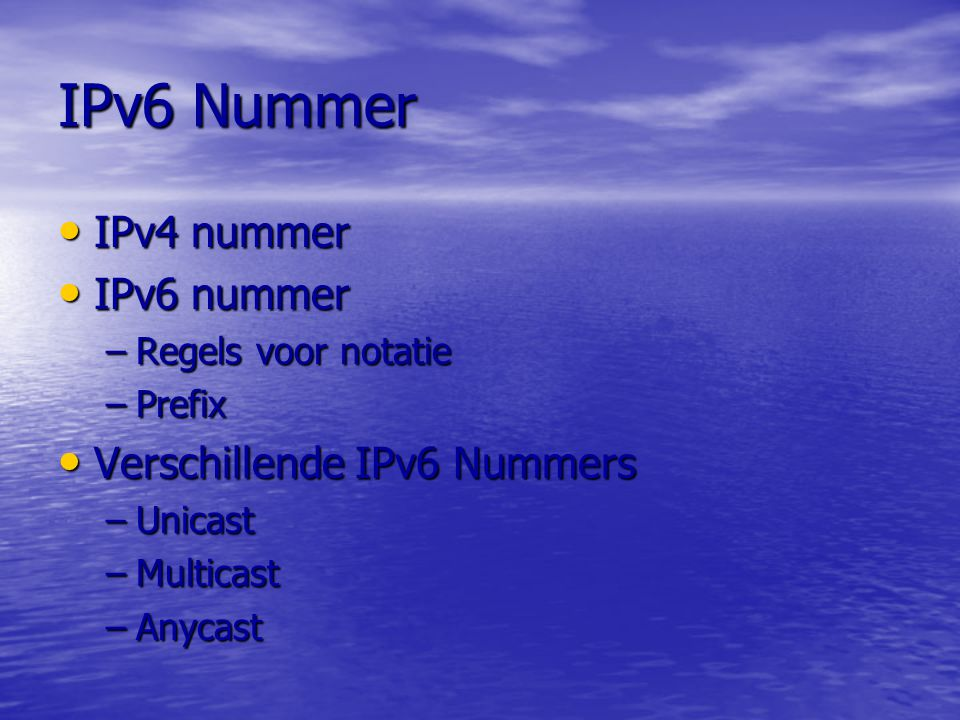 IPv6 Nummer IPv4 nummer IPv6 nummer Verschillende IPv6 Nummers