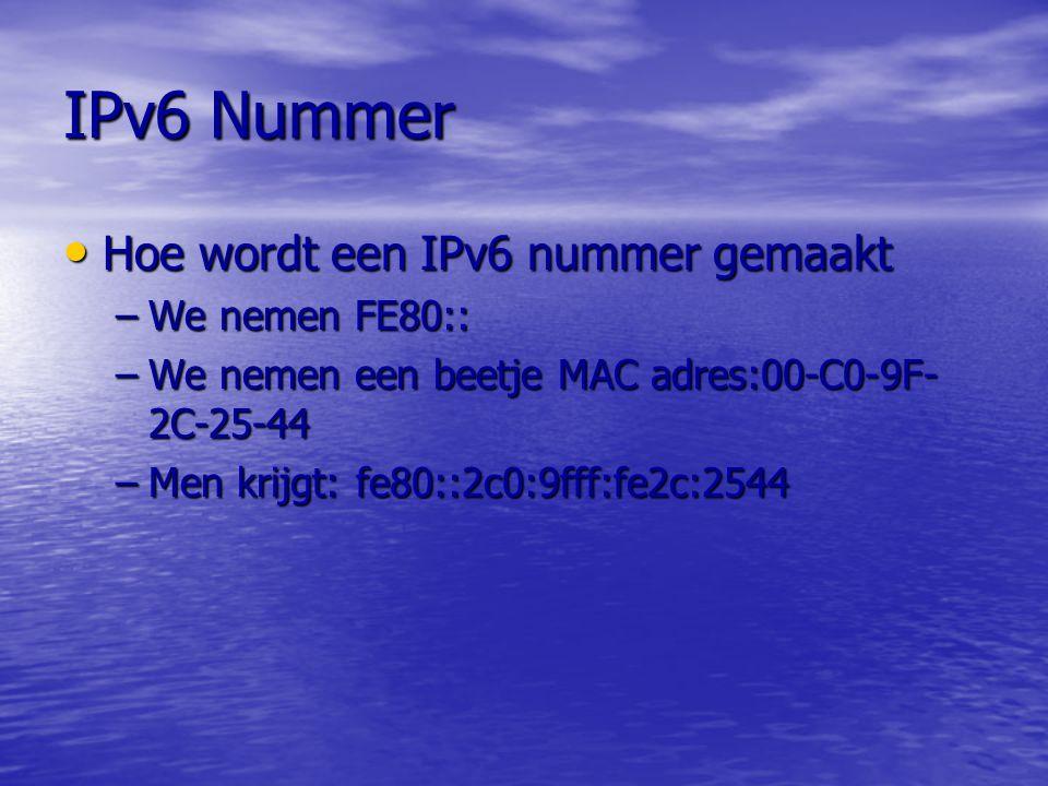 IPv6 Nummer Hoe wordt een IPv6 nummer gemaakt We nemen FE80::