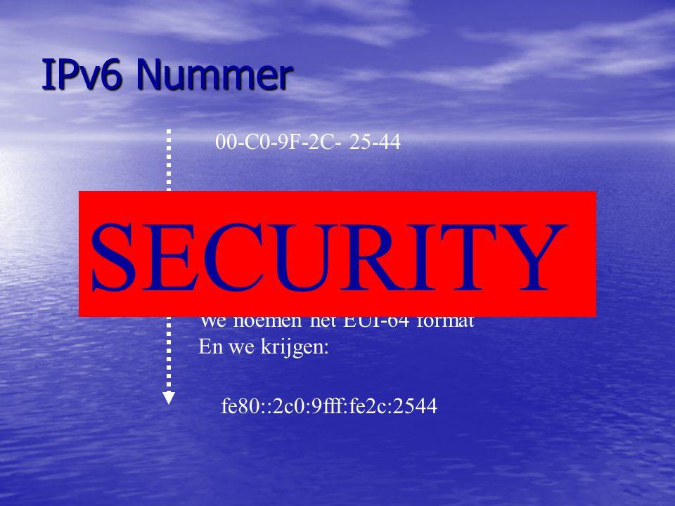 SECURITY IPv6 Nummer 00-C0-9F-2C- 25-44 00C0-9F 2C- 2544