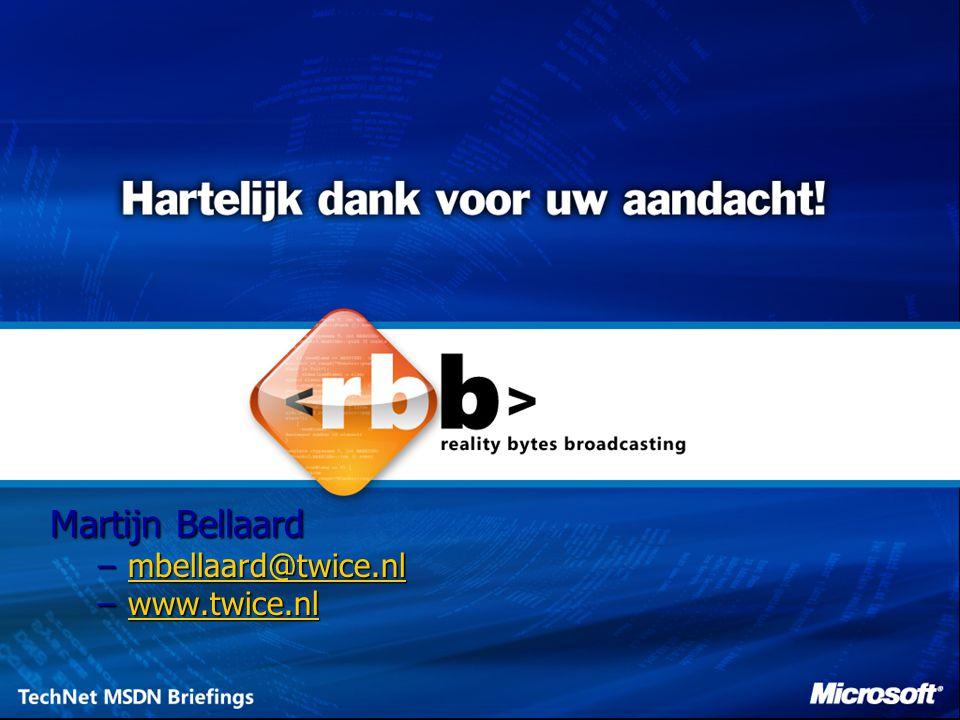 Martijn Bellaard mbellaard@twice.nl www.twice.nl