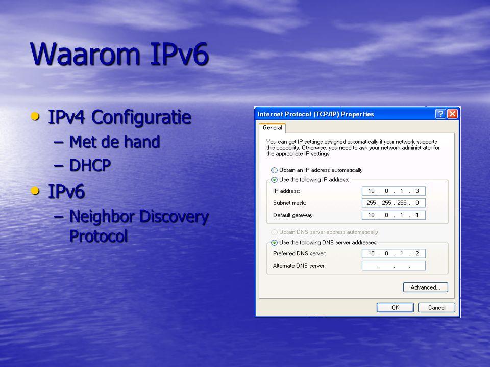 Waarom IPv6 IPv4 Configuratie IPv6 Met de hand DHCP