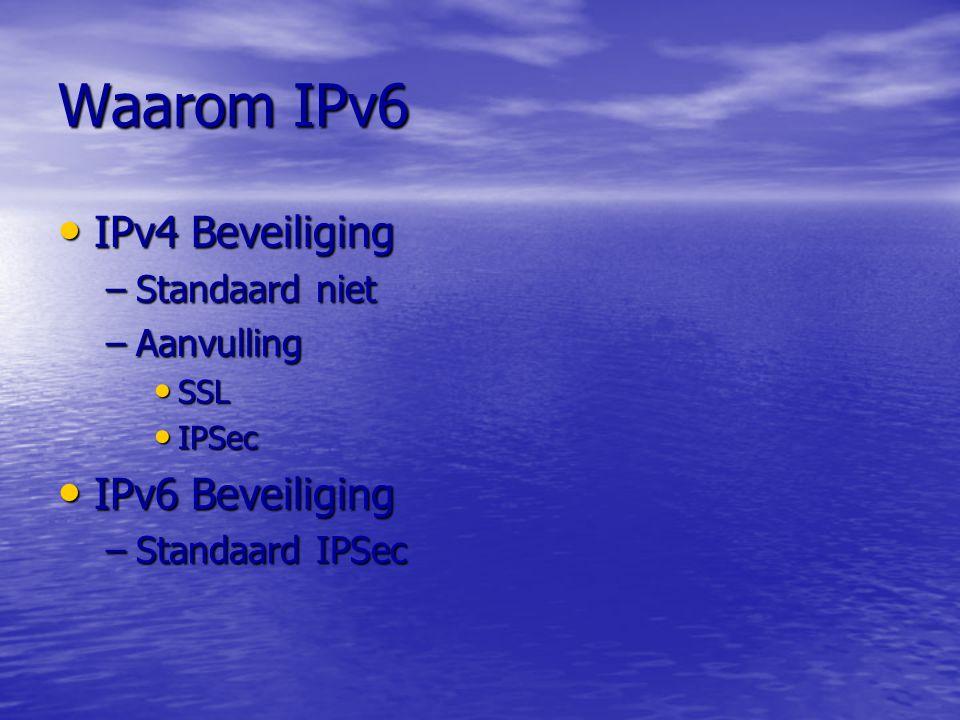 Waarom IPv6 IPv4 Beveiliging IPv6 Beveiliging Standaard niet