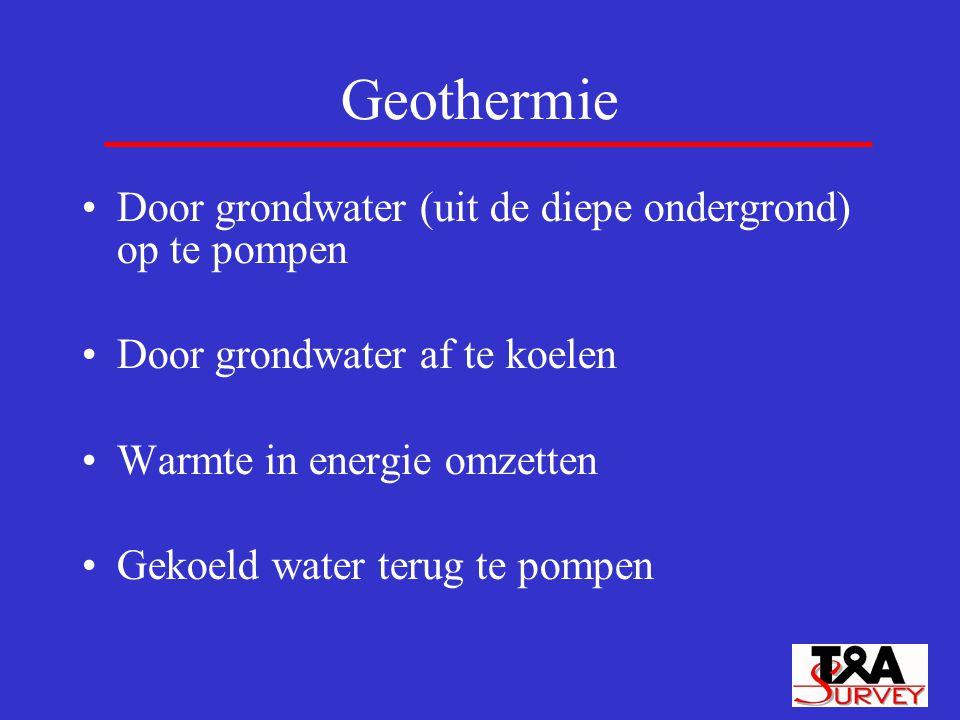 Geothermie Door grondwater (uit de diepe ondergrond) op te pompen