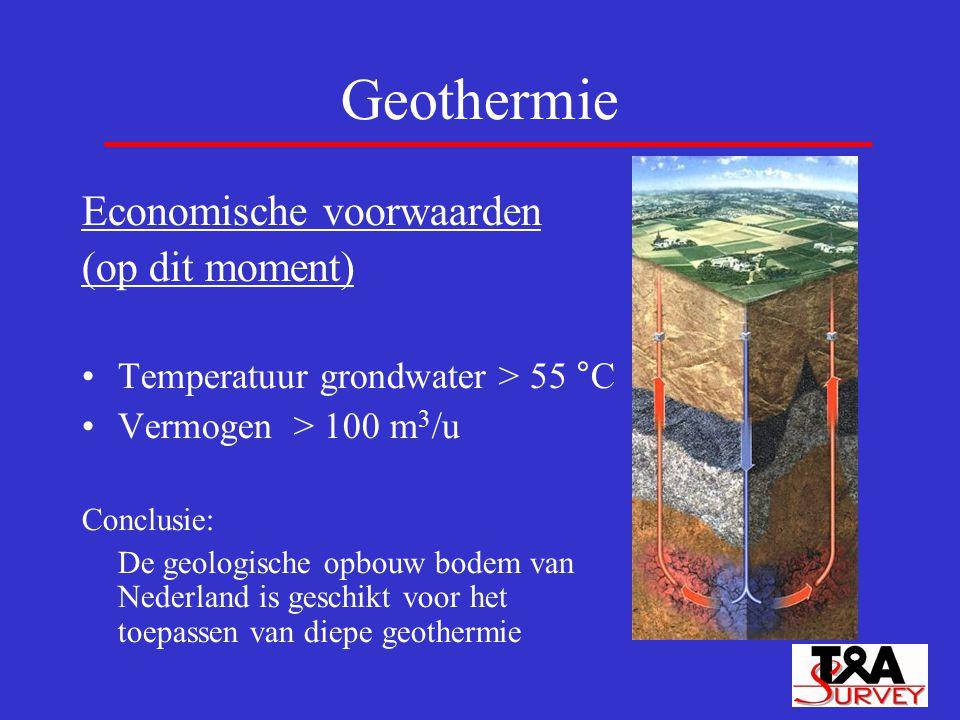 Geothermie Economische voorwaarden (op dit moment)