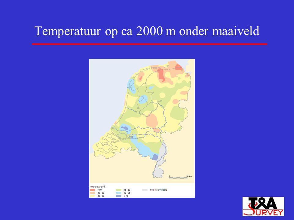 Temperatuur op ca 2000 m onder maaiveld