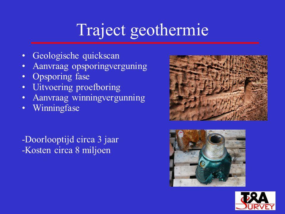 Traject geothermie Geologische quickscan Aanvraag opsporingverguning