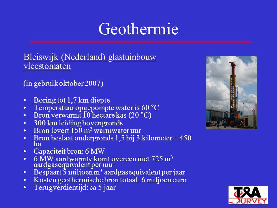 Geothermie Bleiswijk (Nederland) glastuinbouw vleestomaten
