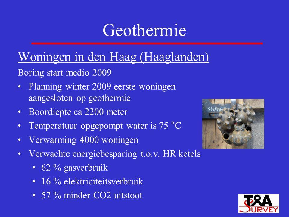 Geothermie Woningen in den Haag (Haaglanden) Boring start medio 2009