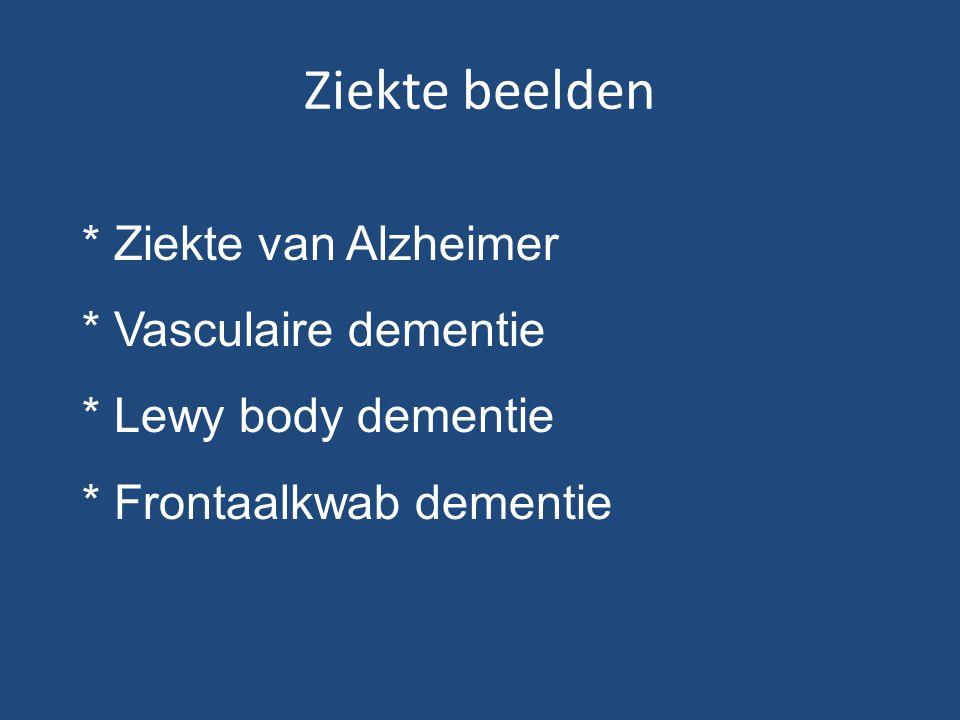 Ziekte beelden * Ziekte van Alzheimer * Vasculaire dementie