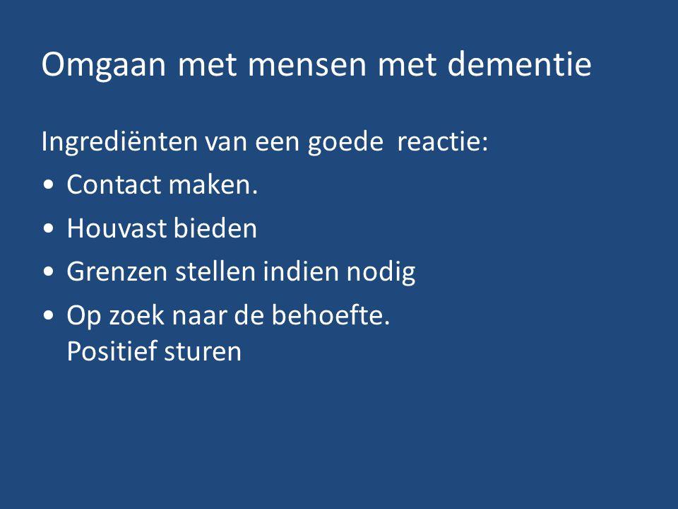 Omgaan met mensen met dementie