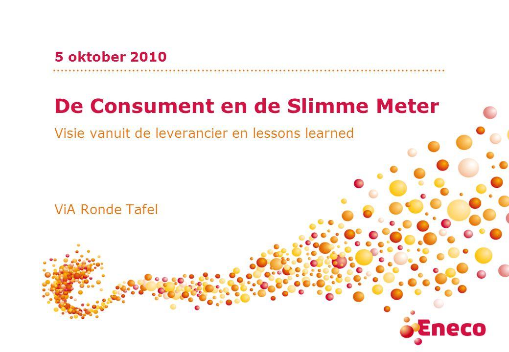 De Consument en de Slimme Meter