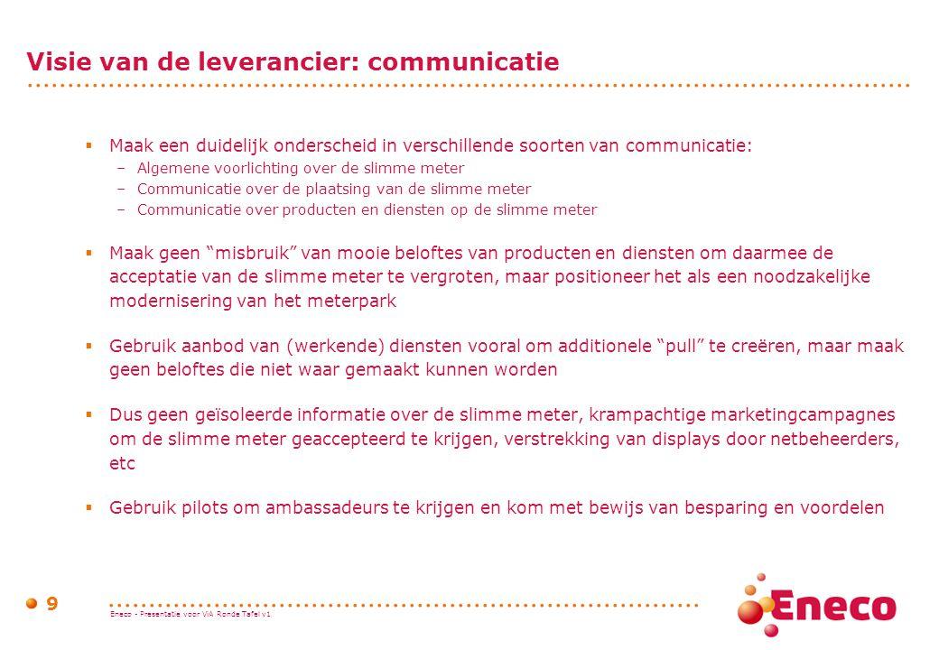 Visie van de leverancier: communicatie