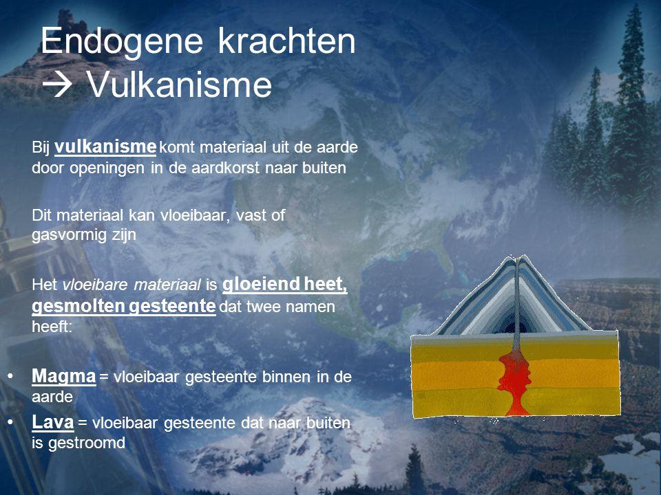 Endogene krachten  Vulkanisme